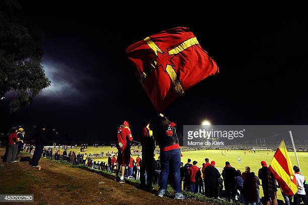 A general view during the FFA Cup match between Adelaide United and Wellington Phoenix at Marden Sports Complex on August 5 2014 in Adelaide Australia