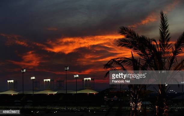 A general view during the FIA World Endurance Championship 6 Hours of Bahrain sportscar race at Bahrain International Circuit on November 15 2014 in...