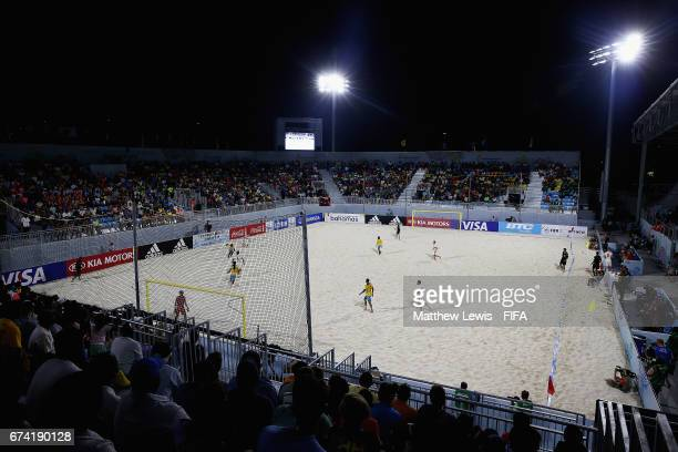 A general view during the FIFA Beach Soccer World Cup Bahamas 2017 group A match between Bahamas and Switzerland at National Beach Soccer Arena at...