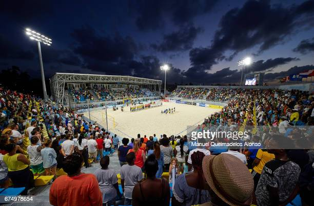 A general view during the FIFA Beach Soccer World Cup Bahamas 2017 group A match between Senegal and Bahamas at National Beach Soccer Arena at...