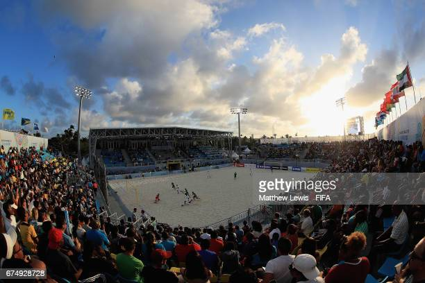 A general view during the FIFA Beach Soccer World Cup Bahamas 2017 group B match between Mexico and Nigeria at National Beach Soccer Arena at Malcolm...