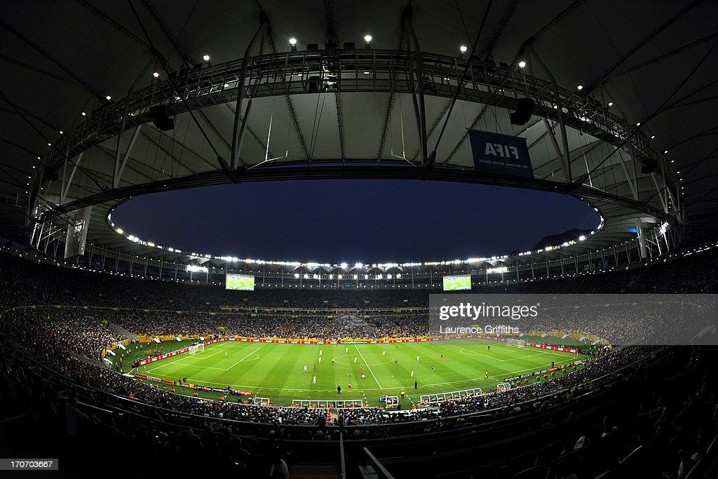 General View during the FIFA Confederations Cup Brazil 2013 Group A match between Mexico and Italy at the Maracana Stadium on June 16, 2013 in Rio de Janeiro, Brazil.