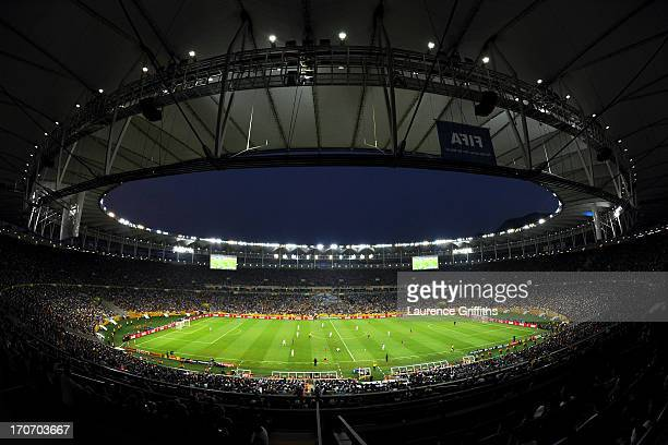 General View during the FIFA Confederations Cup Brazil 2013 Group A match between Mexico and Italy at the Maracana Stadium on June 16 2013 in Rio de...