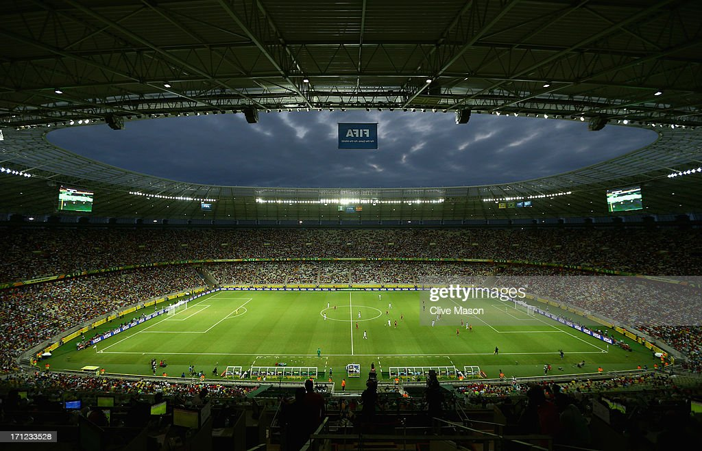 General View during the FIFA Confederations Cup Brazil 2013 Group B match between Nigeria and Spain at Castelao on June 23, 2013 in Fortaleza, Brazil.