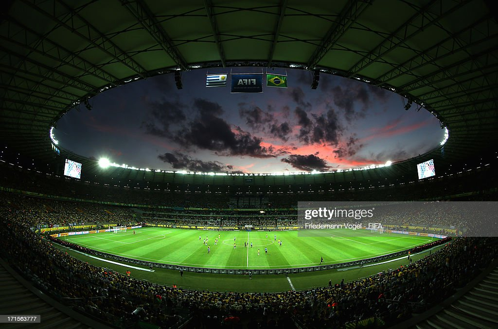 General View during the FIFA Confederations Cup Brazil 2013 Semi Final match between Brazil and Uruguay at Governador Magalhaes Pinto Estadio Mineirao on June 26, 2013 in Belo Horizonte, Brazil.