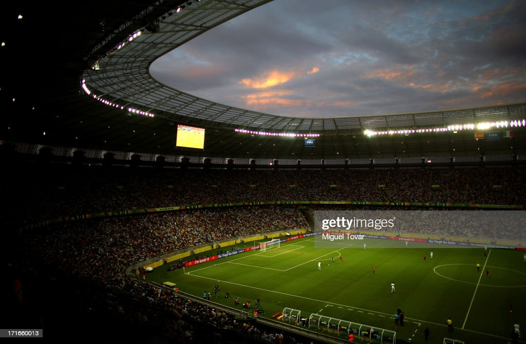 General View during the FIFA Confederations Cup Brazil 2013 Semi Final match between Spain and Italy at Castelao on June 27, 2013 in Fortaleza, Brazil.