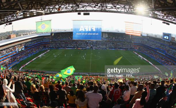 A general view during the FIFA Confederations Cup Group B match between USA and Brazil at the Loftus Versveld Stadium on June 18 2009 in Pretoria...