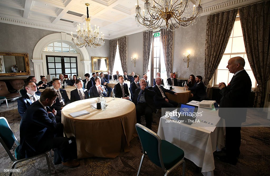 General view during the FIFA Referees meeting 2016 at Oulton Hall on February 9, 2016 in Leeds, England.