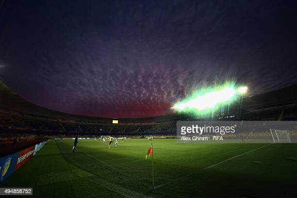 A general view during the FIFA U17 World Cup Chile 2015 Round of 16 match between Russia and Ecuador at Estadio Municipal de Concepcion on October 29...