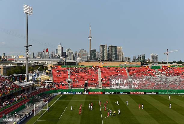 A general view during the FIFA U20 Women's World Cup Canada 2014 Group A match between Ghana and Korea DPR at the National Soccer Stadium on August 8...