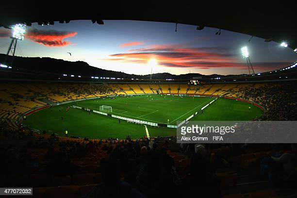 A general view during the FIFA U20 World Cup New Zealand 2015 Quarter Final match between Senegal and Uzbekistan at Wellington Regional Stadium on...