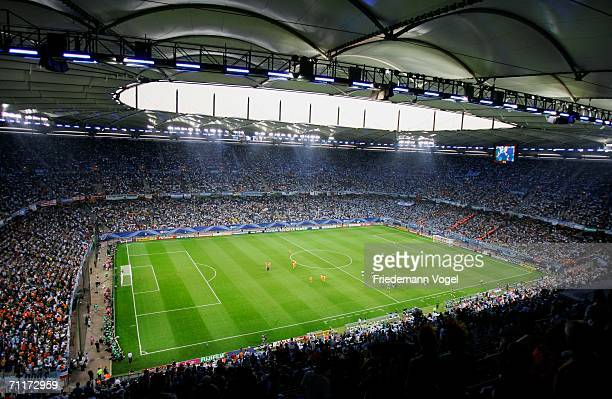 General View during the FIFA World Cup Germany 2006 Group C match between Argentina and Ivory Coast played at the Stadium Hamburg on June 10 2006 in...