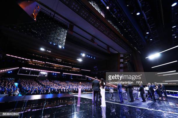 A general view during the Final Draw for the 2018 FIFA World Cup Russia at the State Kremlin Palace on December 1 2017 in Moscow Russia