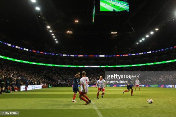 A general view during the Final Star Sixes match between France and Denmark at The O2 Arena on July 16 2017 in London England