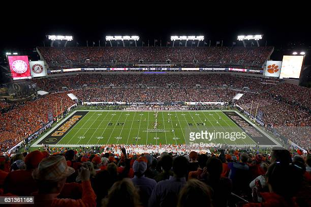 A general view during the first quarter of the 2017 College Football Playoff National Championship Game between the Alabama Crimson Tide and the...