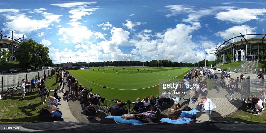 A general view during the first training session of Hamburger SV after the summer break on June 29, 2016 in Hamburg, Germany.