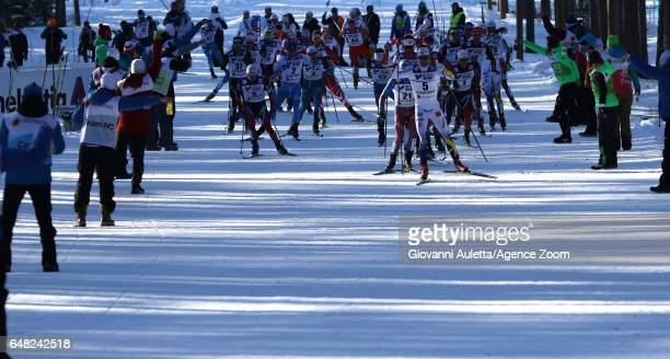 A general view during the FIS Nordic World Ski Championships Men's Cross Country Mass Start on March 5 2017 in Lahti Finland