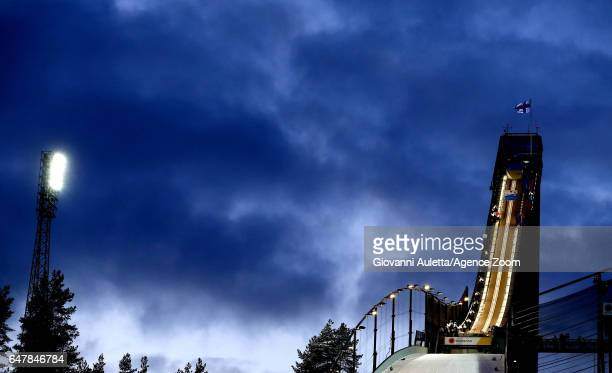 A general view during the FIS Nordic World Ski Championships Men's Team Ski Jumping HS130 on March 4 2017 in Lahti Finland