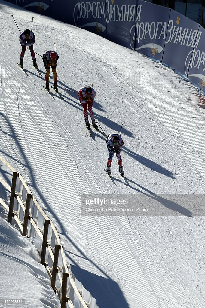 A general view during the FIS Nordic World Ski Championships Nordic Combined Team Sprint on March 02, 2013 in Val di Fiemme, Italy.