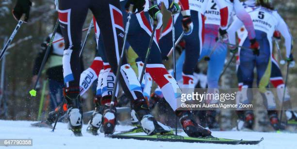A general view during the FIS Nordic World Ski Championships Women's Cross Country Mass Start on March 4 2017 in Lahti Finland