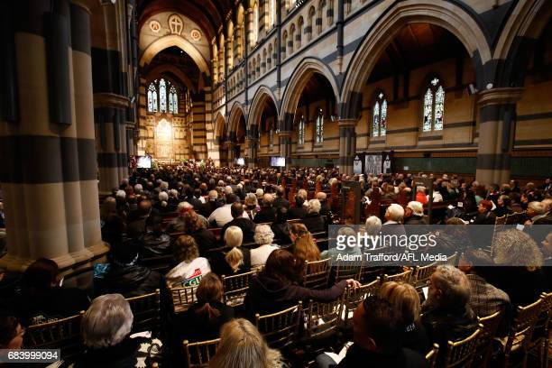 A general view during the former Collingwood legend Lou Richards state funeral at St Paul's Cathedral on May 17 2017 in Melbourne Australia