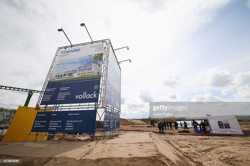 General view during the foundation stone laying ceremony for the new Condair EMEA Logistic and Production Plant on May 3, 2016 in Norderstedt, Germany.