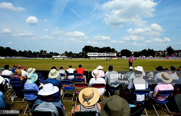 A general view during the Friends Life T20 match between Middlesex Panthers and Hampshire Royals at Old Deer Park on July 14 2013 in Richmond England