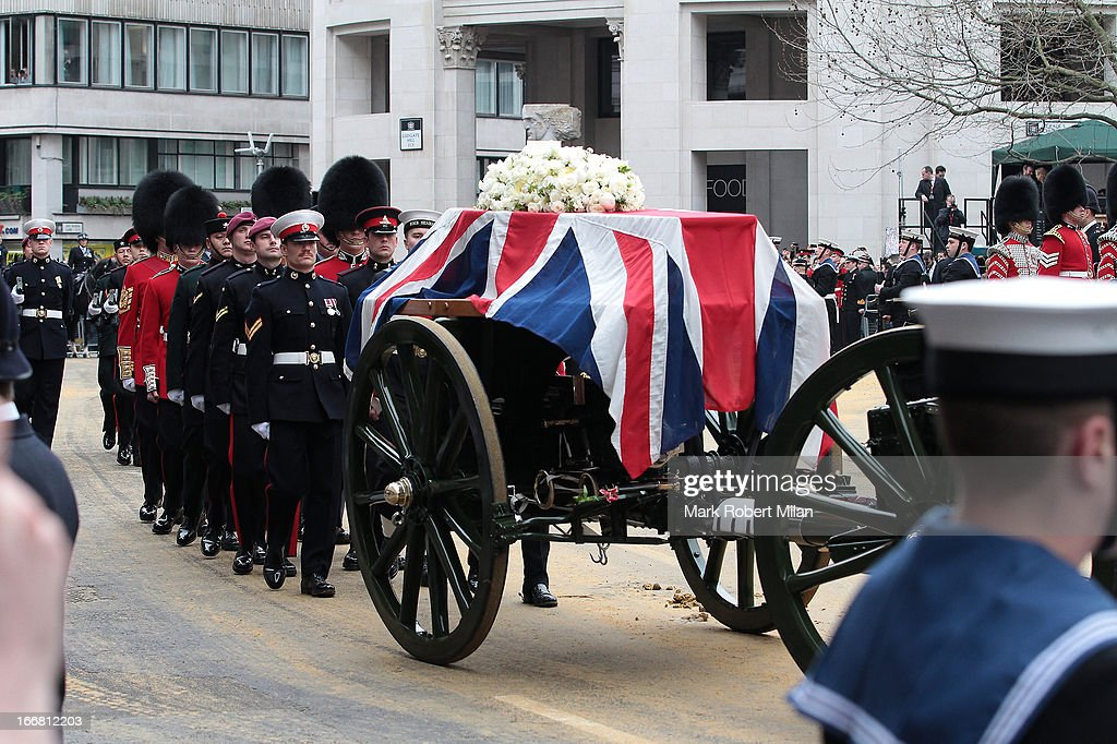 A general view during the funeral of former British prime minister Margaret Thatcher, on April 17, 2013 in London, England.