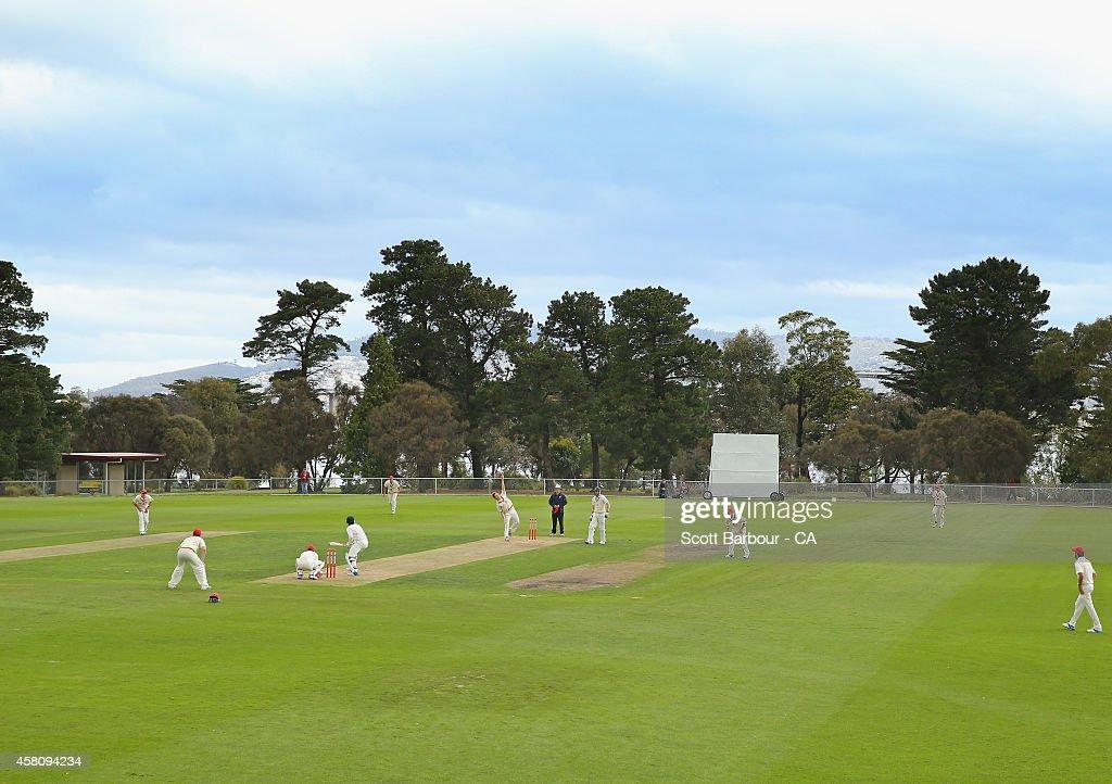Lindisfarne Australia  city images : ... Australia at Lindisfarne Oval on October 30, 2014 in Hobart, Australia