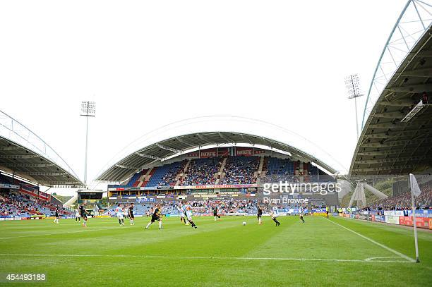 A general view during the game at The King Power Stadium at the Galpharm Stadium on August 23 2014 in Huddersfield United Kingdom