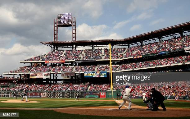 A general view during the game between the Atlanta Braves and the Philadelphia Phillies at Citizens Bank Park on April 8 2009 in Philadelphia...