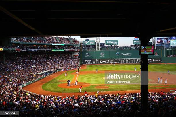 A general view during the game between the Chicago Cubs and the Boston Red Sox on April 28 2017 at Fenway Park in Boston Massachusetts