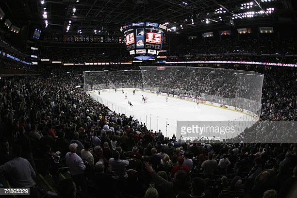 General view during the game between the Detroit Red Wings and the Columbus Blue Jackets on December 18 2006 at Nationwide Arena in Columbus Ohio The...