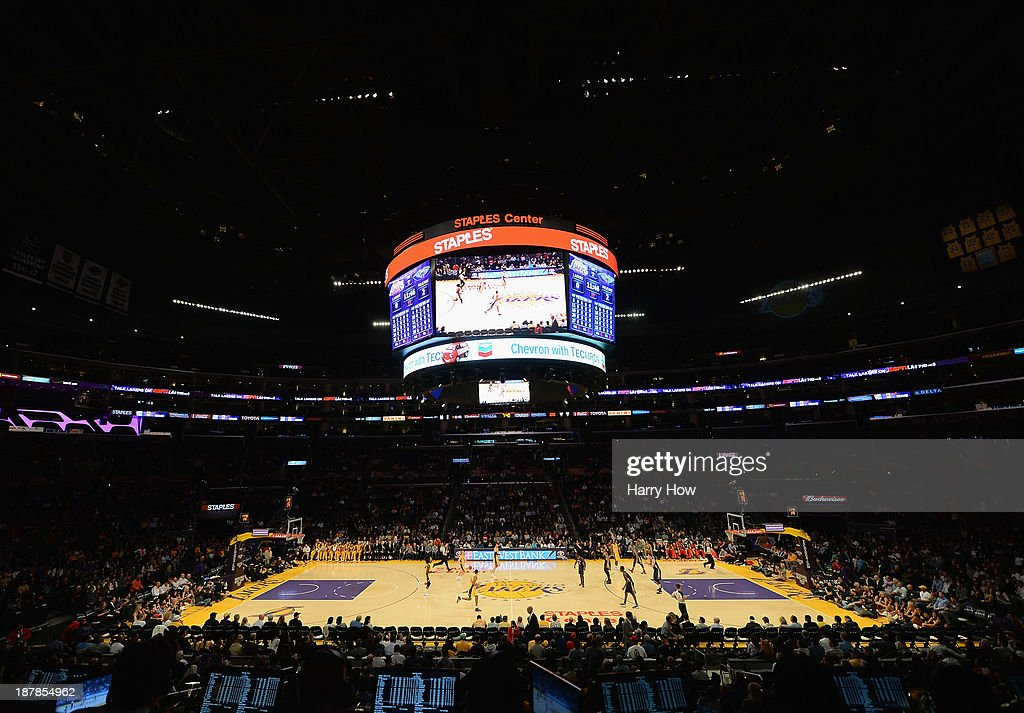 General view during the game between the New Orleans Pelicans and the Los Angeles Lakers at Staples Center on November 12, 2013 in Los Angeles, California.