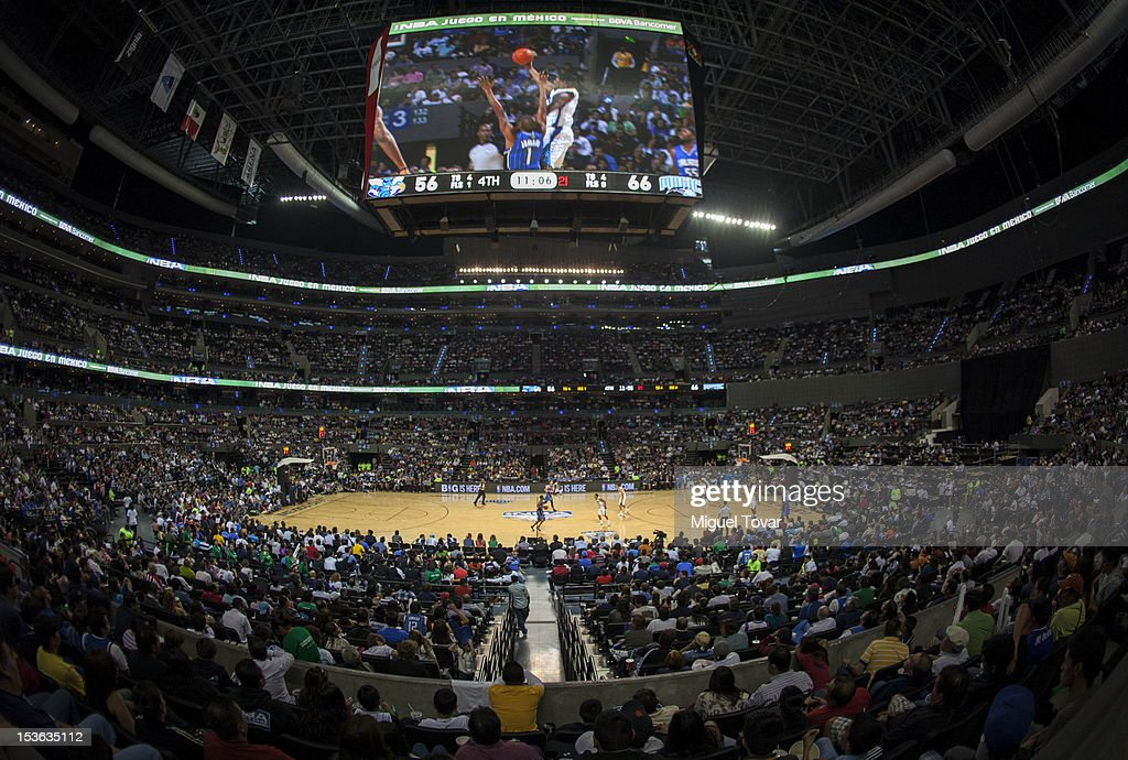 A general view during the game between the Orlando Magic and the New Orleans Hornets on October 7, 2012 at Mexico City Arena in Mexico City.