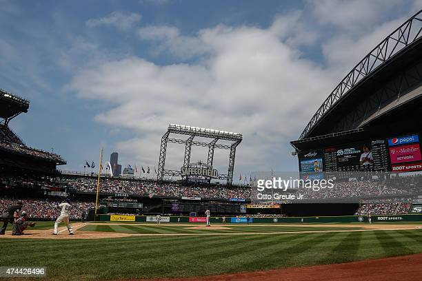 A general view during the game between the Seattle Mariners against the Boston Red Sox at Safeco Field on May 17 2015 in Seattle Washington