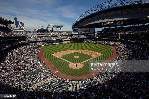 A general view during the game between the Seattle Mariners and the Chicago White Sox at Safeco Field on April 21 2012 in Seattle WashingtonWhite...