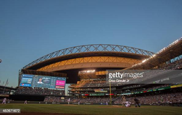 A general view during the game between the Seattle Mariners and the Oakland Athletics at Safeco Field on July 12 2014 in Seattle Washington