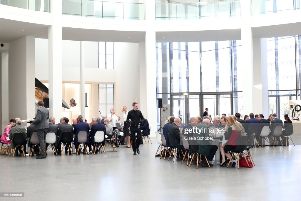 A general view during the Gentlemen Art Lunch at Pinakothek der Moderne on March 13, 2017 in Munich, Germany.