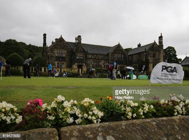 A general view during the Golfbreakscom PGA Fourball Championship North Qualifier at Woodsome Hall Golf Course on July 20 2017 in Huddersfield England