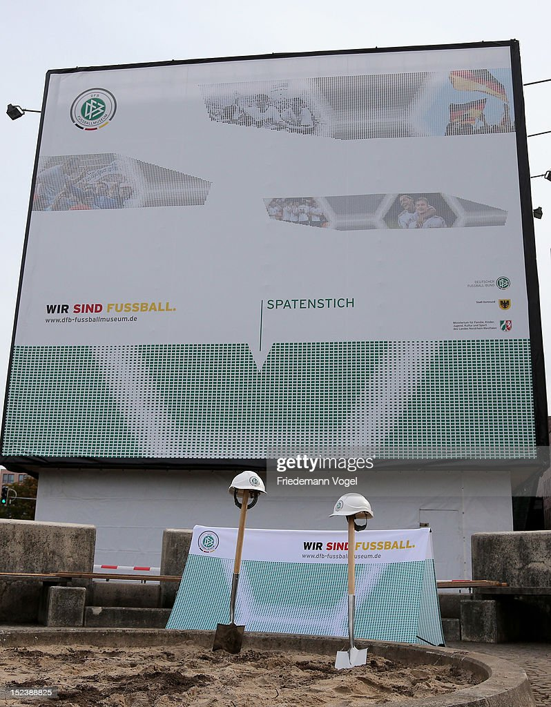 A general view during the ground breaking ceremony for the DFB Football museum on September 20, 2012 in Dortmund, Germany.