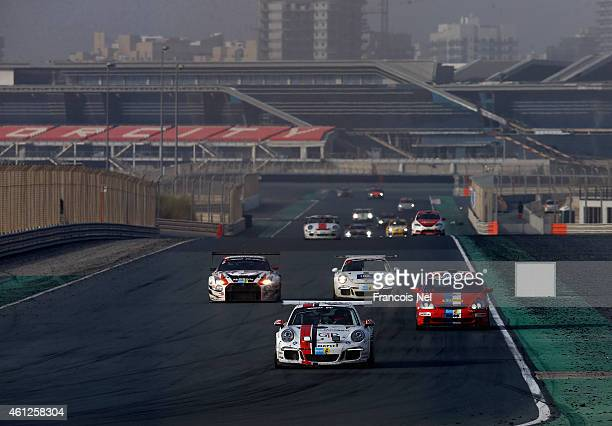 A general view during the Hankook 24 Hours Dubai Race at Dubai Autodrome on January 10 2015 in Dubai United Arab Emirates