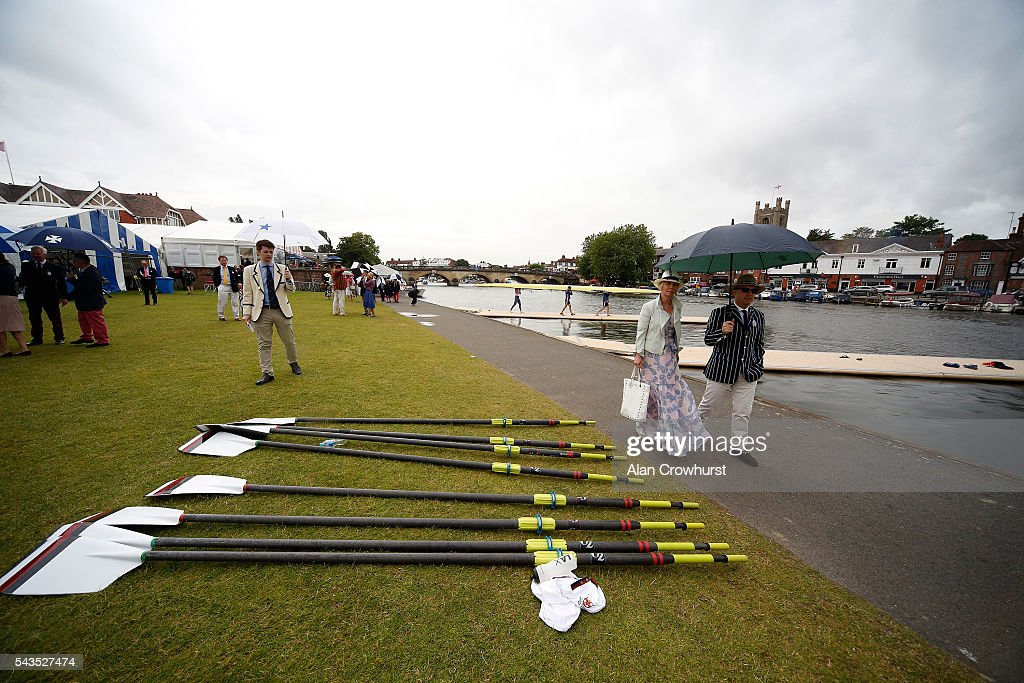 A general view during the Henley Royal Regatta on June 29, 2016 in Henley-on-Thames, England.