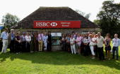 A general view during the HSBC course walk with Harry Meade during the CCI 4 star Dressage of the Land Rover Burghley Horse Trials in the HSBC FEI...
