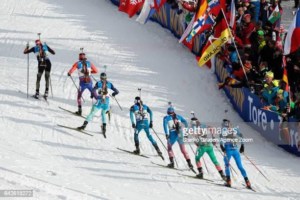 A general view during the IBU Biathlon World Championships Men's Relay on February 18 2017 in Hochfilzen Austria