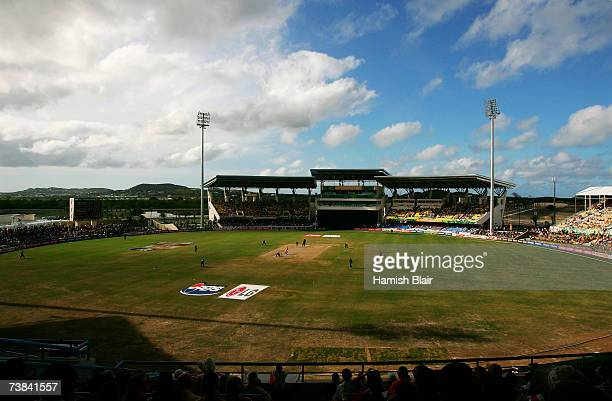 A general view during the ICC Cricket World Cup Super Eights match between Australia and England at the Sir Vivian Richards Stadium on April 8 2007...