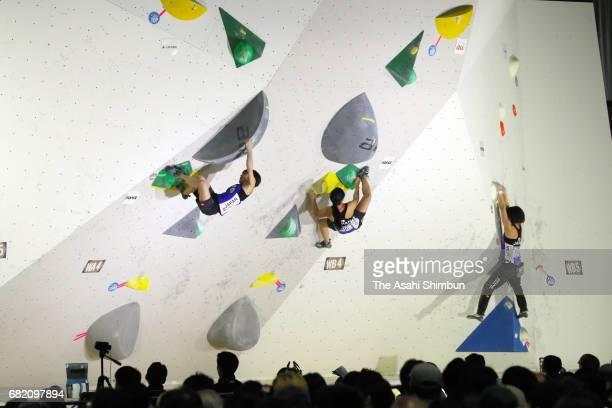 A general view during the IFSC Climbing Worldcup Hachioji at Esforta Arena Hachioji on May 6 2017 in Hachioji Tokyo Japan