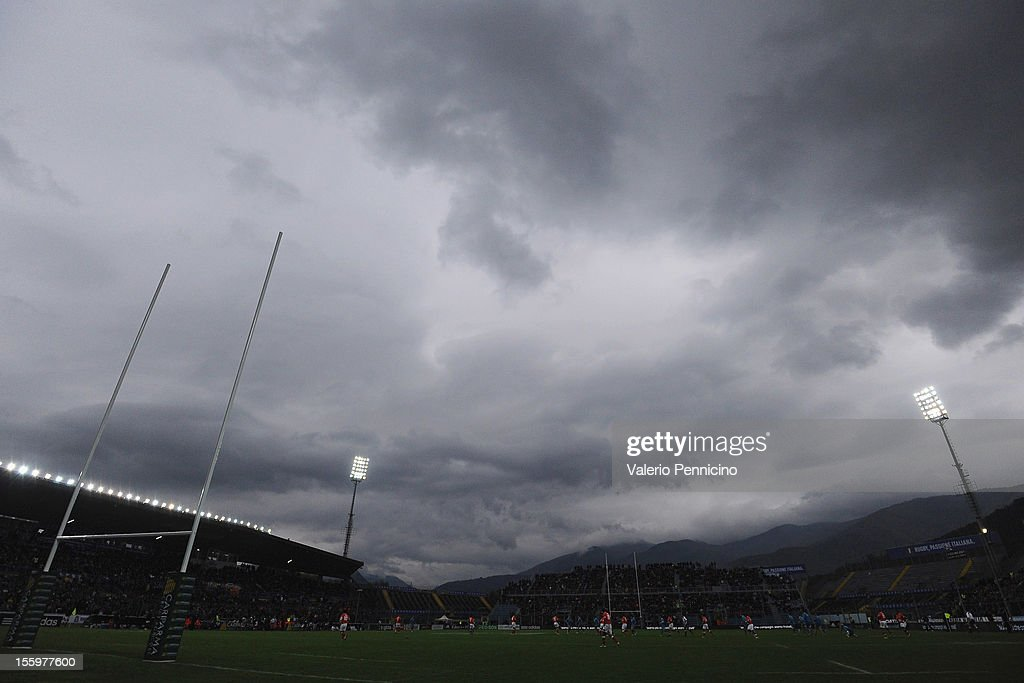 A general view during the international test match between Italy and Tonga at Mario Rigamonti Stadium on November 10, 2012 in Brescia, Italy.
