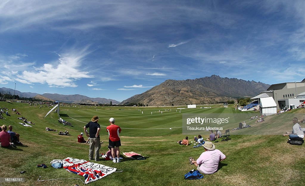 A general view during the International tour match between New Zealand XI and England at Queenstown Events Centre on February 27 2013 in Queenstown...