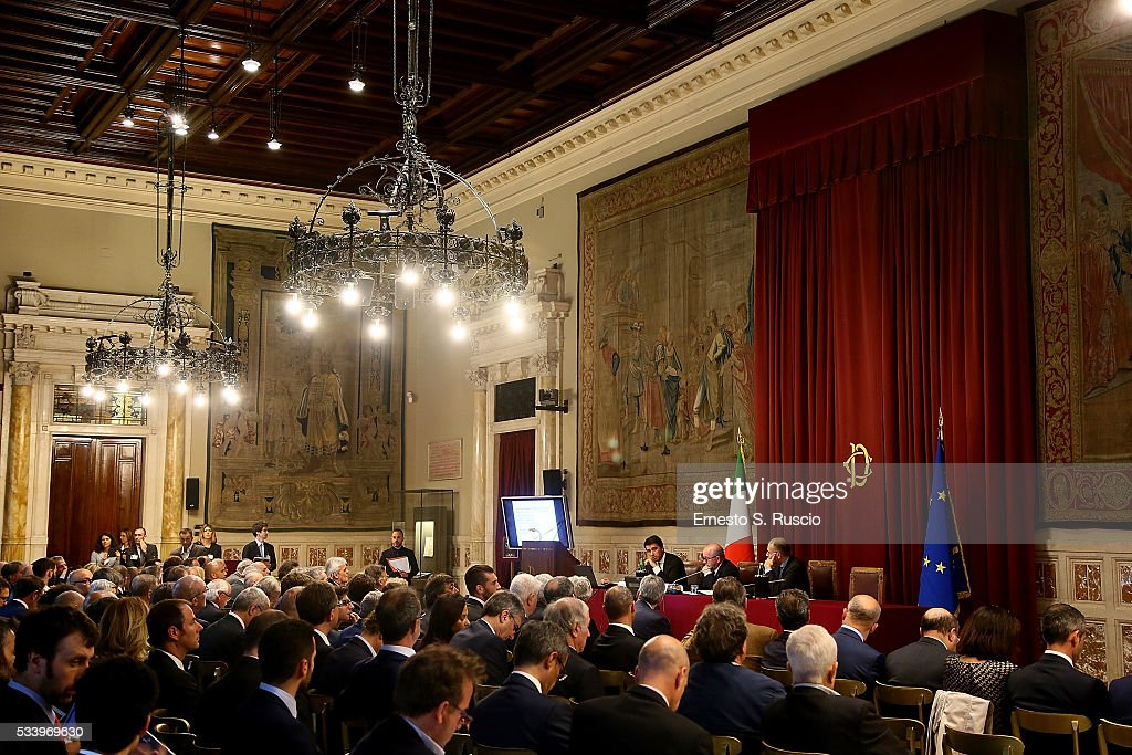General view during the Italian Football Federation Annual Report at Palazzo Montecitorio on May 24, 2016 in Rome, Italy.